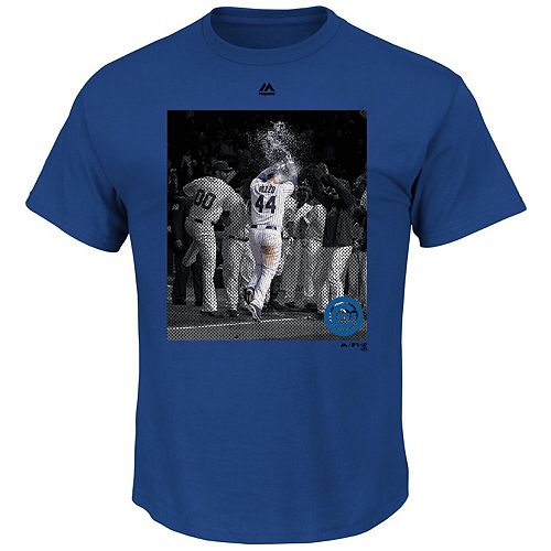 Men's Majestic Anthony Rizzo Royal Chicago Cubs Heat Of The Moment T-Shirt