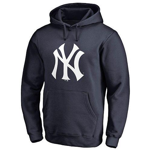 Men's Fanatics Branded Navy New York Yankees Primary Logo Pullover Hoodie