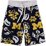 Youth Wes & Willy Navy Michigan Wolverines Swim Trunks