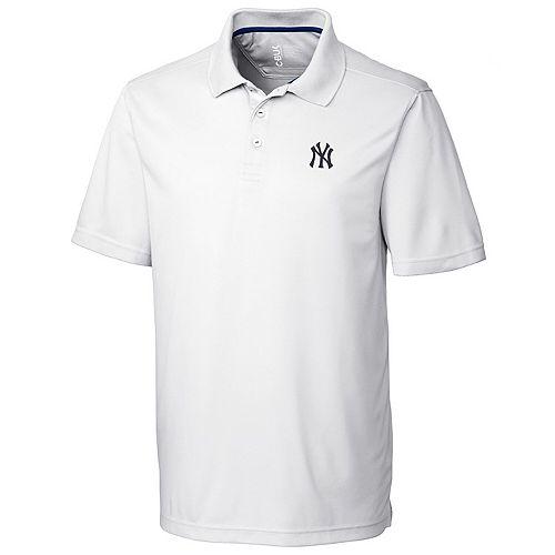 Men's CBUK by Cutter & Buck White New York Yankees DryTec Fairwood Polo