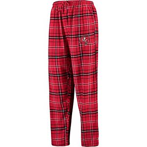 Men's Concepts Sport Red/Black Tampa Bay Buccaneers Ultimate Plaid Flannel Pants