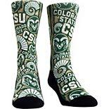 Youth Green Colorado State Rams Logo Sketch Crew Socks