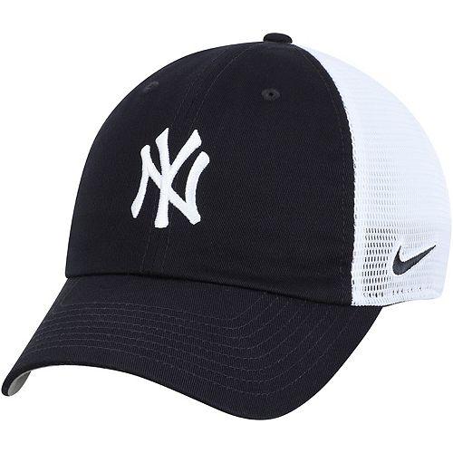 Men's Nike Navy/White New York Yankees Heritage 86 Team Trucker Adjustable Hat