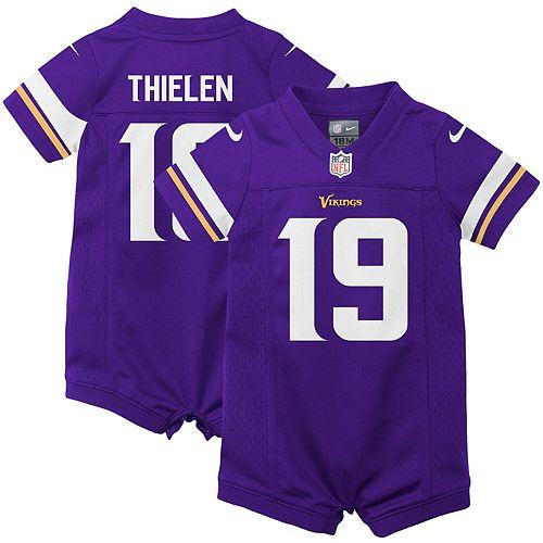 reputable site 1f6dc c66c7 Infant Nike Adam Thielen Purple Minnesota Vikings Romper ...