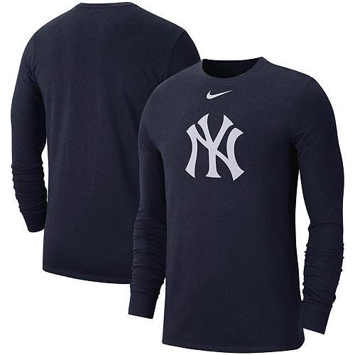 Men's Nike Navy New York Yankees Logo Performance Long Sleeve T-Shirt