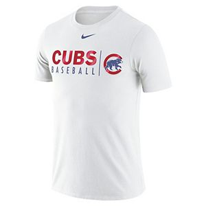 new concept 25001 993a4 Women's Nike White Chicago Cubs Practice Tri-Blend V-Neck T-Shirt
