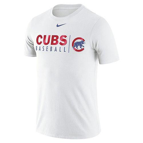 Men's Nike White Chicago Cubs MLB Practice T-Shirt