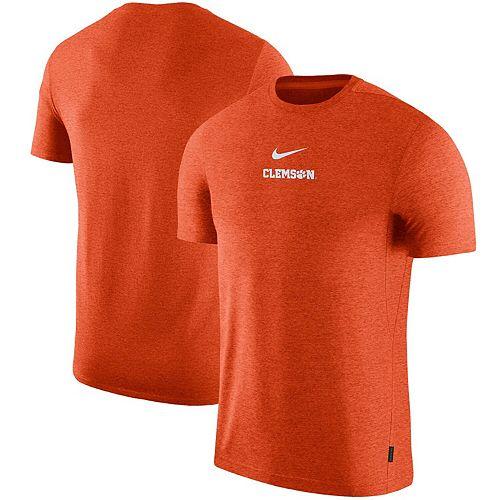 Men's Nike Orange Clemson Tigers 2019 Coaches Sideline UV Performance Top