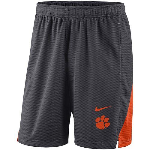 Men's Nike Charcoal Clemson Tigers Franchise Shorts