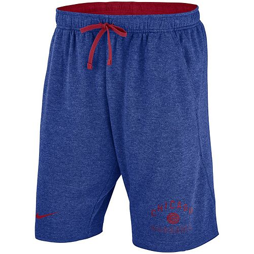 Men's Nike Heathered Royal Chicago Cubs Flux Lounge Shorts