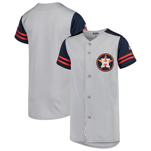the best attitude 76544 44984 Youth Stitches Gray/Navy Houston Astros Team Jersey