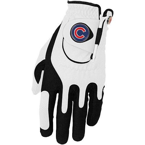 Men's White Chicago Cubs Left Hand Golf Glove & Ball Marker Set
