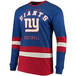 Men's G-III Sports by Carl Banks Royal/Red New York Giants Even Strength Long Sleeve T-Shirt