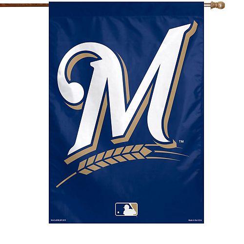 "WinCraft Milwaukee Brewers 28"" x 40"" Big Logo Single-Sided Vertical Banner"