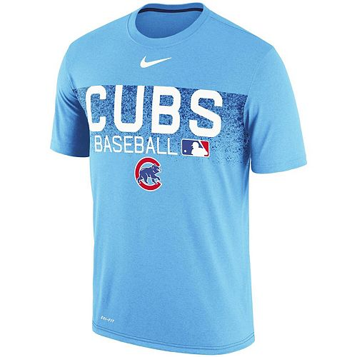 Men's Nike Light Blue Chicago Cubs Authentic Collection Legend Team Issue Performance T-Shirt