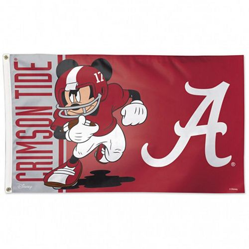 WinCraft Alabama Crimson Tide Single-Sided 3' x 5' Deluxe Disney Flag