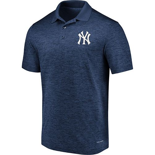 Men's Majestic Navy New York Yankees Targeting Success Domestic Cool Base Polo