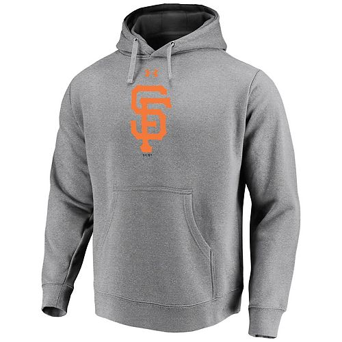 Men's Under Armour Heathered Gray San Francisco Giants Commitment Team Mark Performance Pullover Hoodie