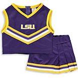 Girls Toddler Purple LSU Tigers Two-Piece Cheer Set