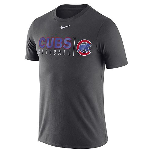 Men's Nike Anthracite Chicago Cubs MLB Practice T-Shirt