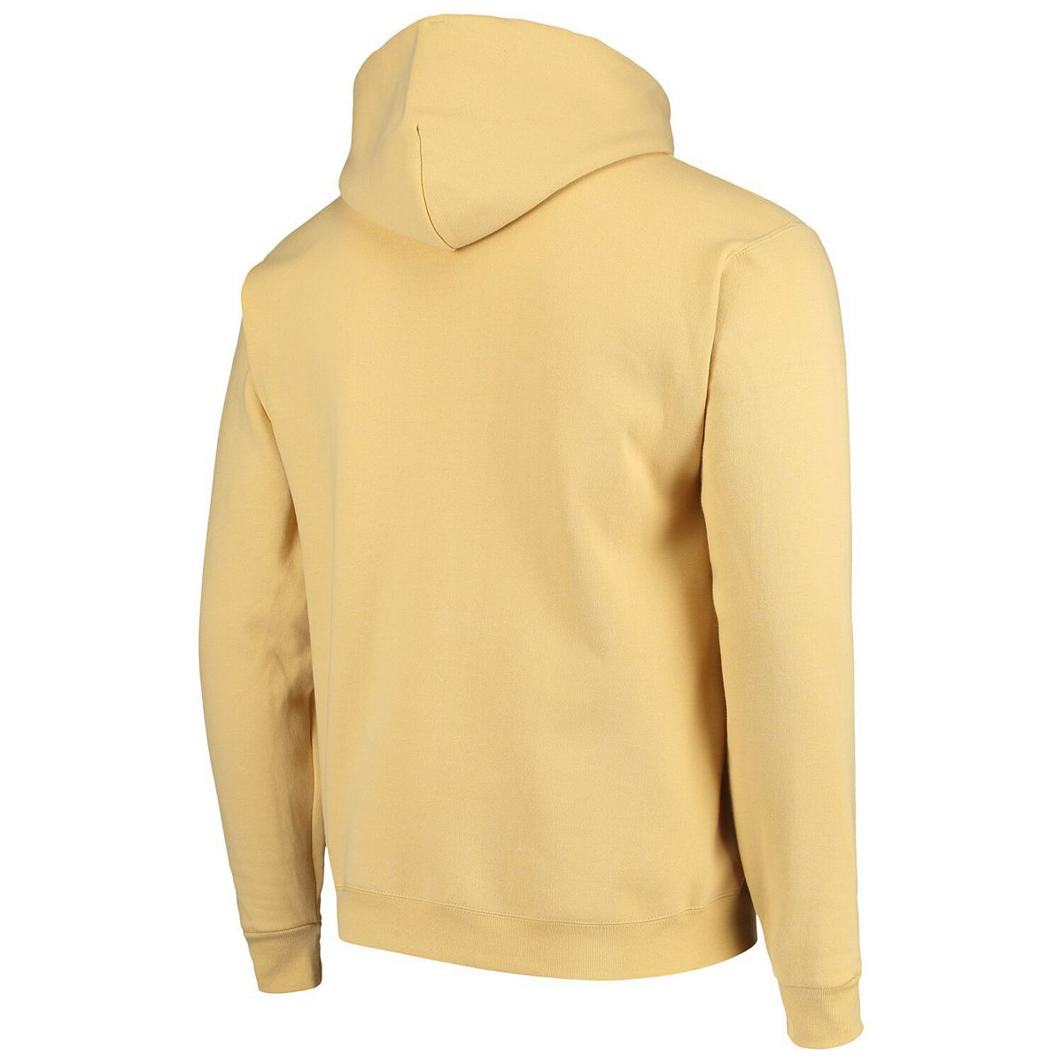 Men's Champion® Gold Georgia Tech Yellow Jackets Arch & Logo Powerblend Pullover Hoodie Bk2y3