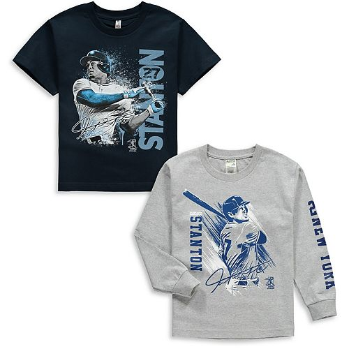 Youth Giancarlo Stanton Navy/Gray New York Yankees Splash Player Graphic 2-Pack T-Shirt Set