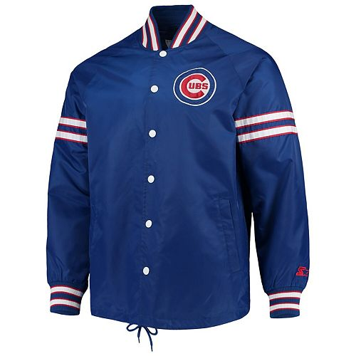 Men's G-III Sports by Carl Banks Royal Chicago Cubs Skipper Coach's Full Snap Jacket