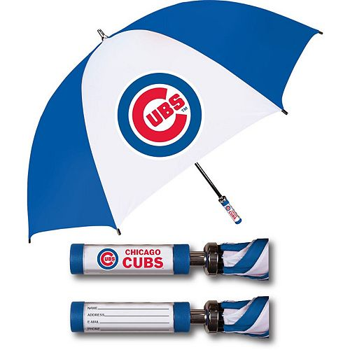 Chicago Cubs Golf Umbrella With ID Handle