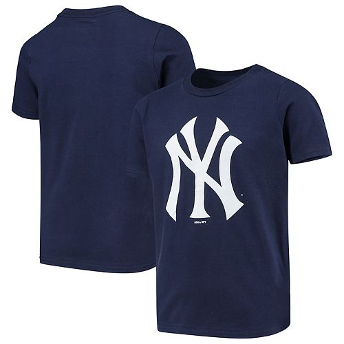 Youth Navy New York Yankees Primary Team Logo T-Shirt