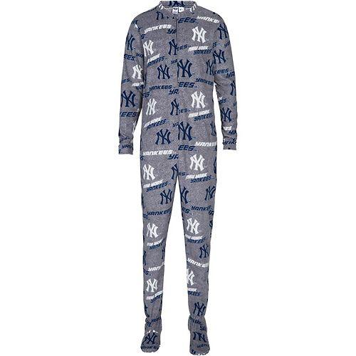 Men's Concepts Sport Gray New York Yankees Achieve Fleece Union Suit