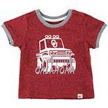 Newborn & Infant Colosseum Heathered Crimson Oklahoma Sooners Mud Flap Ringer T-Shirt