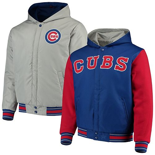 Men's JH Design Royal/Red Chicago Cubs Reversible Full-Snap Twill Jacket