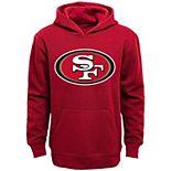 San Francisco 49ers Youth Primary Logo Team Color Fleece Pullover Hoodie - Scarlet