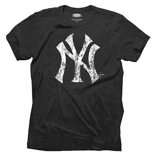Majestic Threads New York Yankees Primary Logo Tri-Blend T-Shirt - Navy Blue