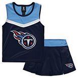 Girls Youth Navy/Light Blue Tennessee Titans Two-Piece Spirit Cheerleader Set
