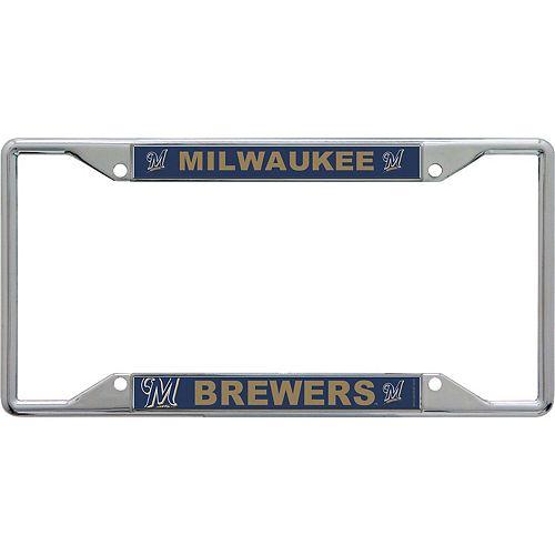 WinCraft Milwaukee Brewers Acrylic Mega License Plate Frame
