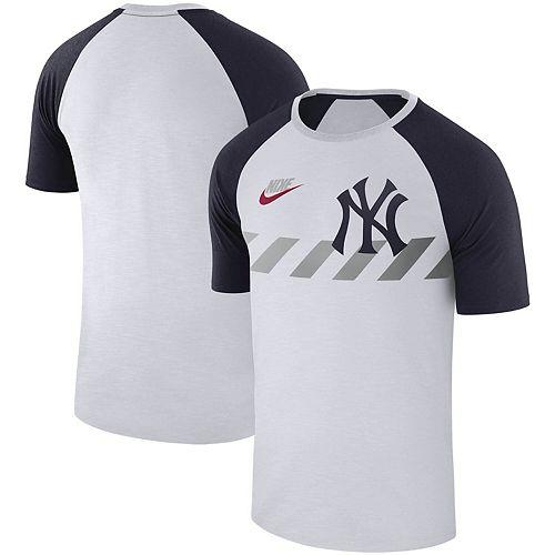 Men's Nike White New York Yankees Walk-Off Performance Raglan Sleeve T-Shirt