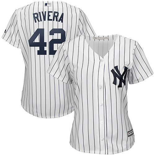 Women's Majestic Mariano Rivera White/Navy New York Yankees 2019 Hall of Fame Cool Base Player Jersey