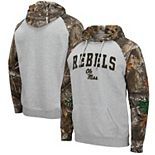 Men's Colosseum Heathered Gray/Realtree Camo Ole Miss Rebels Arch & Logo 2.0 Raglan Pullover Hoodie