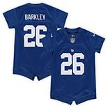 Infant Nike Saquon Barkley Royal New York Giants Romper Jersey