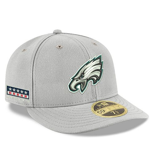 Men's New Era Gray Philadelphia Eagles Crafted in the USA Low Profile 59FIFTY Fitted Hat