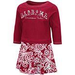 Girls Toddler Colosseum Crimson Alabama Crimson Tide Birdie Long Sleeve T-Shirt and Skirt Set