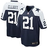 Men's Nike Ezekiel Elliott Navy Dallas Cowboys Alternate Game Jersey