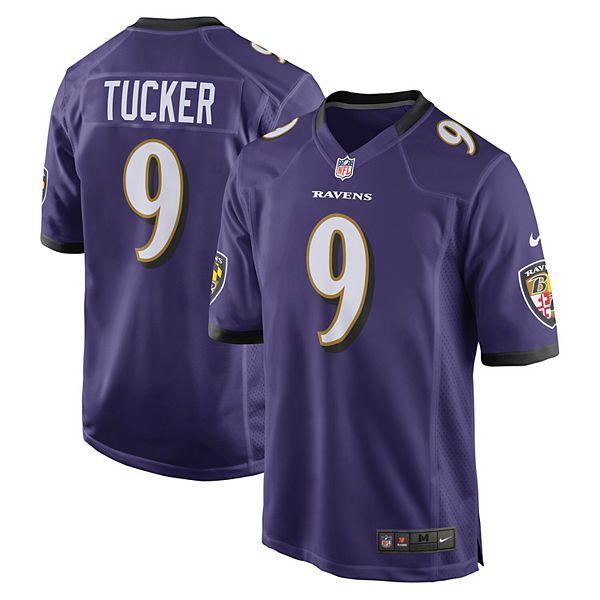Mens Baltimore Ravens Justin Tucker Nike Purple Game Jersey