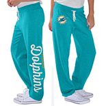 Women's G-III 4Her by Carl Banks Aqua Miami Dolphins Scrimmage Fleece Pants