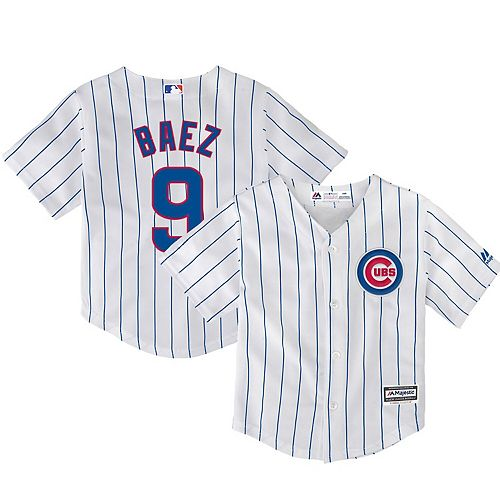 Toddler Majestic Javier Baez White Chicago Cubs Home Official Cool Base Player Jersey