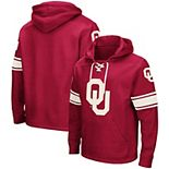 Men's Colosseum Crimson Oklahoma Sooners 2.0 Lace-Up Pullover Hoodie