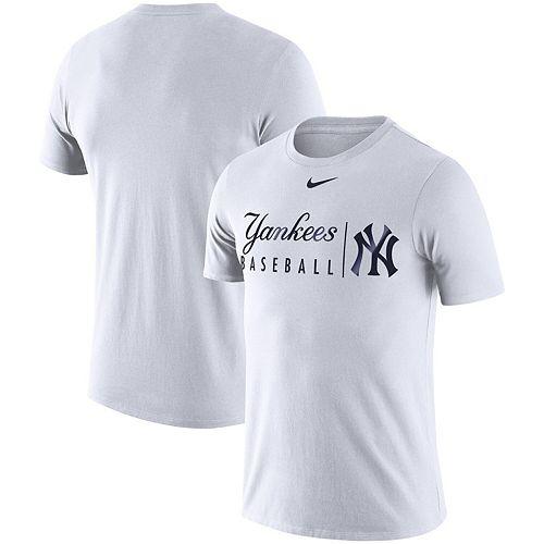 Men's Nike White New York Yankees MLB Practice T-Shirt