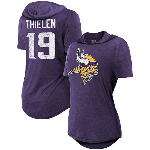 new product 5255b bf1bc Women's Majestic Threads Adam Thielen Purple Minnesota Vikings Hilo Hooded  Name & Number Tri-Blend T-Shirt