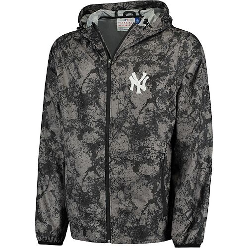 Men's G-III Sports by Carl Banks Charcoal New York Yankees Wind Chill Lightweight Full-Zip Jacket